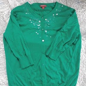 3/4 Sleeve Sequined Cardigan